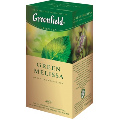 GREENFIELD Green Melissa roheline tee 25x1,5g