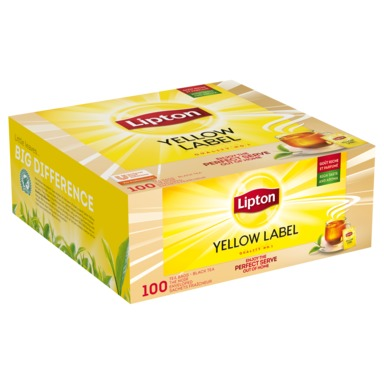 LIPTON Yellow Label tee 100x1,8g (fooliumis)