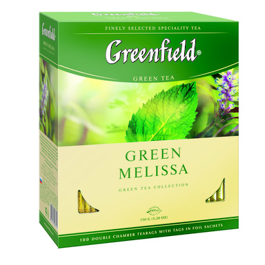 GREENFIELD Green Melissa roheline tee 100x2g