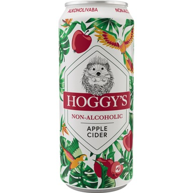 HOGGY'S Alkoholivaba siider Apple 50cl (purk)