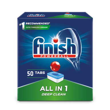 FINISH All in 1 Nõudepesumasinatabletid 50tk