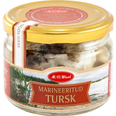 WOOL Marineeritud tursk 250g
